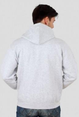 Bluza męska rozpinana z kapturem z własnym nadrukiem