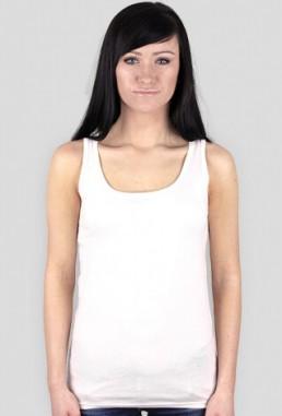 Koszulka damska na ramiączkach z własnym nadrukiem