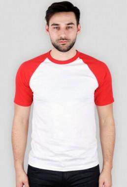 Koszulka męska z kolorowymi rękawami z własnym nadrukiem