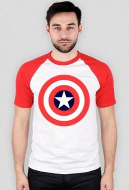 Śmieszna koszulka męska z kolorowymi rękawami