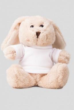 Maskotka pluszak króliczek z własnym nadrukiem