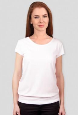 Koszulka damska z silikonowym wykończeniem z własnym nadrukiem