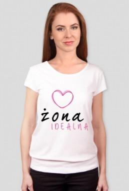 Śmieszna koszulka damska z silikonowym wykończeniem