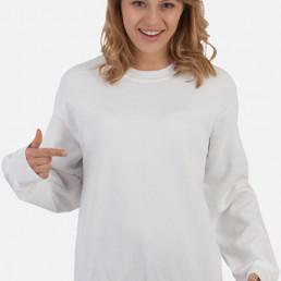 Bluza damska prosta biała