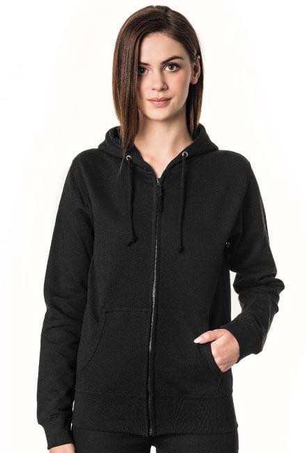 Bluza damska rozpinana z kapturem czarna