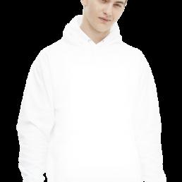 Bluza męska z kapturem biała