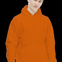 Bluza męska z kapturem pomarańczowa