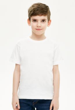 Koszulka dziecięca chłopięca biała