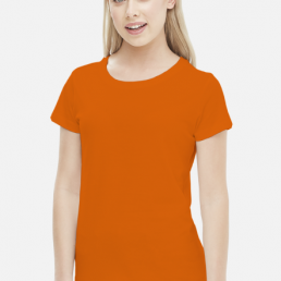 Koszulka damska pomarańczowa