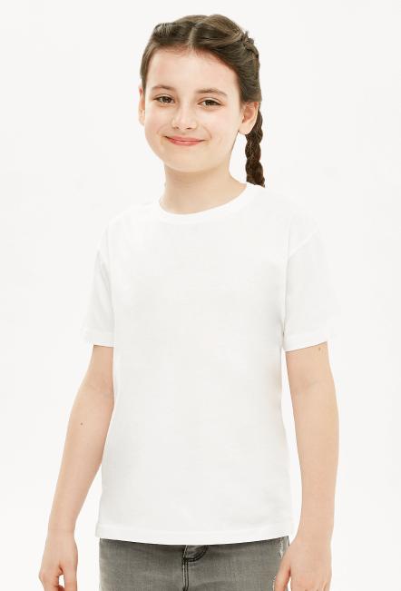 Koszulka dziewczęca biała