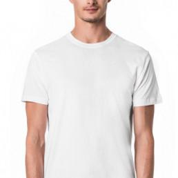 Koszulka męska biała slim