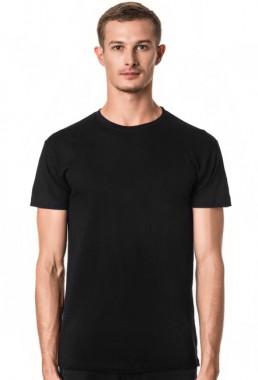 Koszulka męska czarna slim