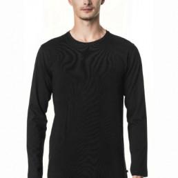 Męski longsleeve koszulka z długimi rękawami czarna