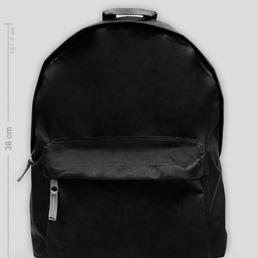 Plecak mały czarny z własnym nadrukiem