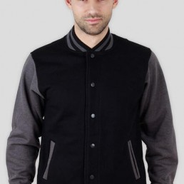 Bluza męska amerykańska College szaro czarna