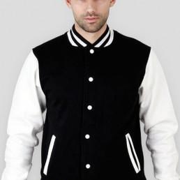 Bluza męska amerykańska College biało czarna
