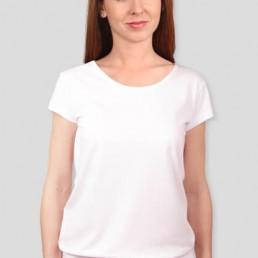 Koszulka damska z silikonowym wykończeniem biała