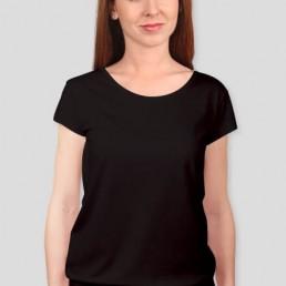 Koszulka damska z silikonowym wykończeniem czarna