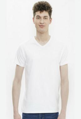 Koszulka męska w serek z własnym nadrukiem
