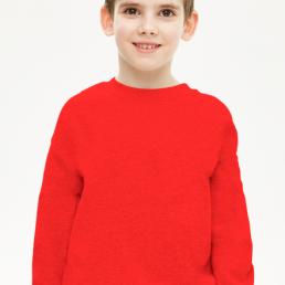 Bluza chłopięca prosta czerwona