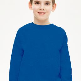 Bluza chłopięca prosta niebieska