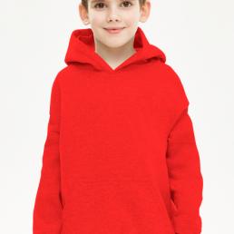 Bluza chłopięca z kapturem czerwona