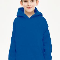 Bluza chłopięca z kapturem niebieska