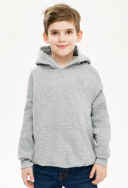 Bluza chłopięca z kapturem szara