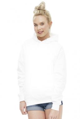 Damska bluza z kapturem biała