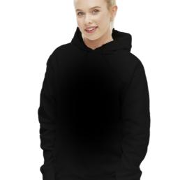 Damska bluza z kapturem czarna