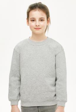 Bluza dziewczęca prosta szara