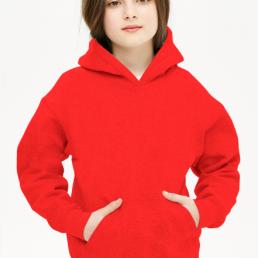 Bluza dziewczęca z kapturem czerwona
