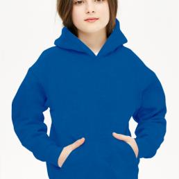 Bluza dziewczęca z kapturem niebieska