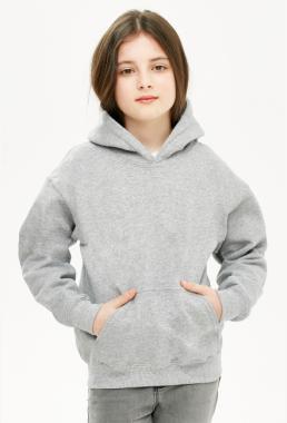Bluza dziewczęca z kapturem szara