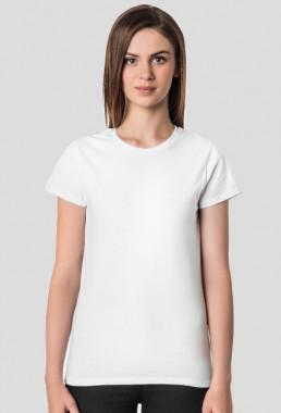 Koszulka damska biała z własnym nadrukiem