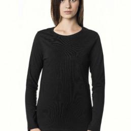 Koszulka damska z długim rękawem czarna